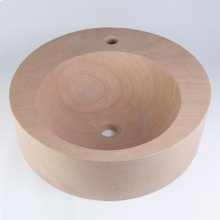 Round Sandstone Vessel with Faucet Mount
