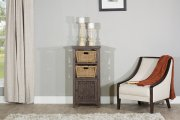 Tuscan Retreat® Basket Stand With X Door With Two Baskets - Mocha Product Image