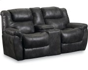 Montgomery Double Reclining Console Loveseat with Storage Product Image