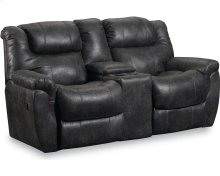 Montgomery Double Reclining Console Loveseat with Storage