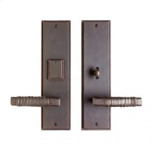 """Stepped Entry Set - 3 1/2"""" x 13"""" White Bronze Brushed"""