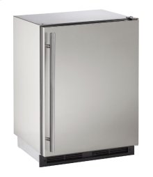 "1000 Series 24"" Outdoor Refrigerator With Stainless Solid Finish and Field Reversible Door Swing"