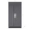 "Sub-Zero 42"" Classic Side-By-Side Refrigerator/freezer With Dispenser - Panel Ready"