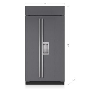 "Sub-Zero42"" Classic Side-by-Side Refrigerator/Freezer with Dispenser - Panel Ready"