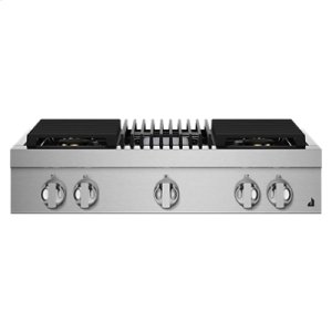 "Jenn-AirNOIR 36"" Gas Professional-Style Rangetop with Grill"