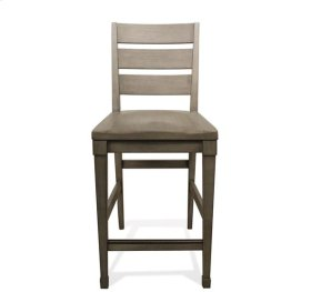 Vogue Counter Height Chair Gray Wash finish