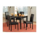 5 Piece Dining Table with Four Stools Product Image