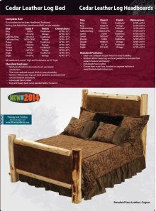 Leather Log Bed