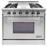 "NXRNXR 36"" Professional Range with Four Burners, Griddle, Convection Oven (DRGB3601)"