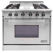 """NXR 36"""" Professional Range with Four Burners, Griddle, Convection Oven (DRGB3601)"""