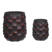 Primitive Basket Weave Vase