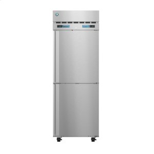 HoshizakiDT1A-HS, Refrigerator and Freezer, Single Section Dual Temp Upright, Half Stainless Doors with Lock