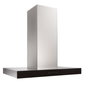 BestIspira 36-in. 600 CFM Stainless Steel Island Range Hood with PURLED Light System and Black Glass