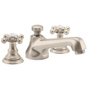 "Del Mar 8"" Widespread Lavatory Faucet - White"