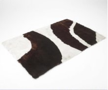 Chocolate Cowhide Shag Rug