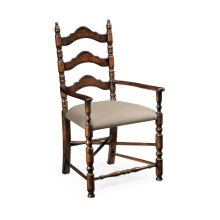 Oak Ladder Back Country Chair (Arm)