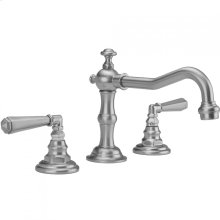 Antique Brass - Roaring 20's Faucet with Hex Lever Handles & Fully Polished & Plated Pop-Up Drain