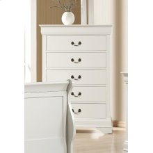 Louis Philippe White Five-drawer Chest