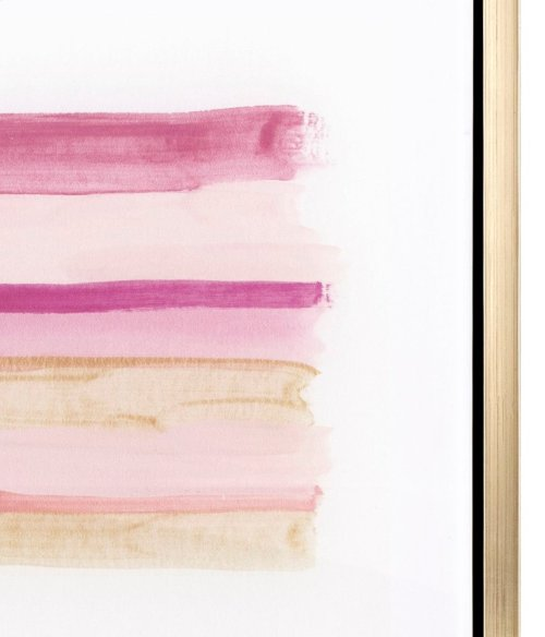 TY Pink Line Art Acrylic Framed Wall Decor w/Easel
