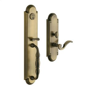 Satin Brass and Black Hamilton Entrance Set