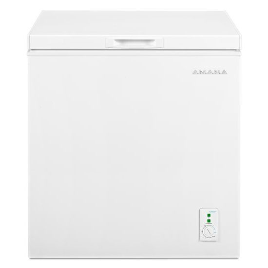 5.3 Cu. Ft. Compact Freezer with 2 Rollers - white  WHITE