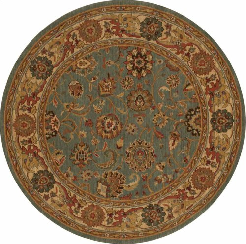 Hard To Find Sizes Grand Parterre Pt01 Blue Round Rug 5'6'' X 5'6''