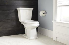 """White Logan Square 1.28 Gpf 12"""" Rough-in Two-piece Elongated Toilet"""