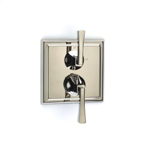 Polished Nickel Hudson (Series 14) Dual Control Thermostatic with Volume Control Valve Trim
