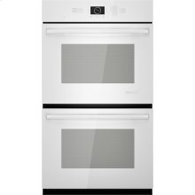 """Double Wall Oven with MultiMode® Convection, 30"""", Floating Glass White"""