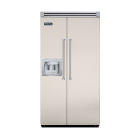"""Oyster Gray 42"""" Quiet Cool™ Side-by-Side with Dispenser - VISB Tru-Flush™ (42"""" wide)"""
