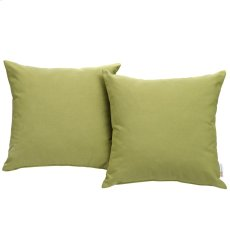 Convene Two Piece Outdoor Patio Pillow Set in Peridot Product Image