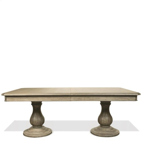 Corinne - Double Pedestal Dining Table Top - Sun-drenched Acacia Finish