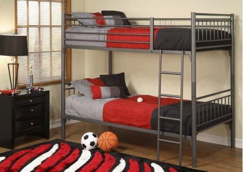 Twin/twin Metal Bunk Bed (gr)