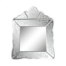 Small Scroll Trim Square Venetian Mirror