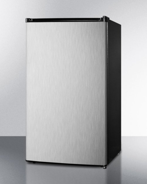 Energy Star Qualified Auto Defrost Refrigerator-freezer With ADA Compliant Height; Black Cabinet With Reversible Stainless Steel Door