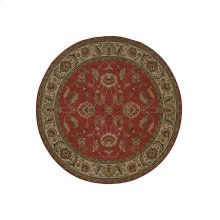 Ashara Agra Red Round 8ft 8in x 8ft 8in