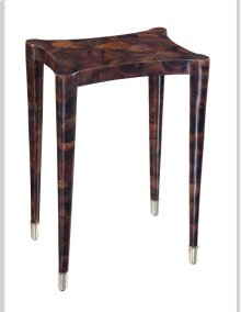 BROWN PENSHELL INLAID OCCASIONAL TABLE