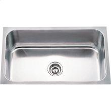 "304 Stainless Steel (18 Gauge) Undermount Rectangular Utility Sink. Overall Measurements: 30"" x 18"" x 9"""