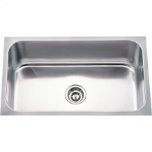 "304 Stainless Steel (18 Gauge) Undermount Rectangular Utility Sink. Overall Measurements: 30"" x 18"" x 9"""
