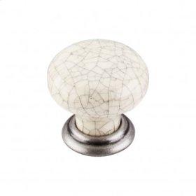 Ceramic Large Knob 1 3/8 Inch - Pewter Antique