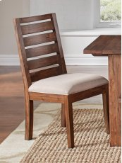 Upholstered Ladderback Side Chair