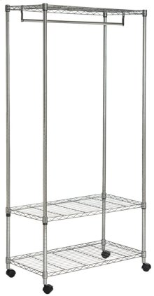 Gordon Chrome Wire 3 Tier Garment Rack - Chrome