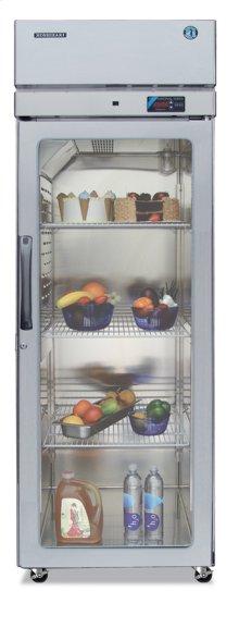 Refrigerator, Single Section Upright, Full Glass Door