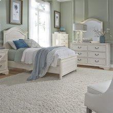 Twin Panel Bed, Dresser & Mirror