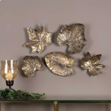 Bronze Leaves Wall Decor, S/5