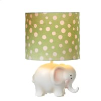 Elephant Accent Lamp with Dot shade. 40W Max. Product Image