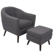 Rockwell Chair with Ottoman - Charcoal Grey Product Image
