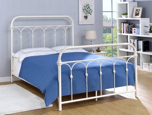 Hallwood Bed - Full, Antique White Finish