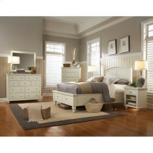 Twin Panel Bed with Storage