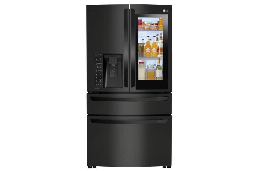 23 cu. ft. Smart wi-fi Enabled InstaView Door-in-Door(R) Counter-Depth Refrigerator  MATTE BLACK STAINLESS STEEL